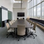 conference room without people in it